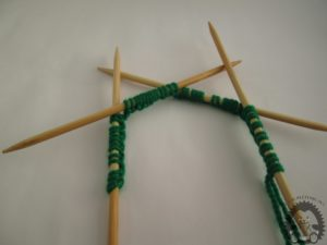 knitting with five needles - 2
